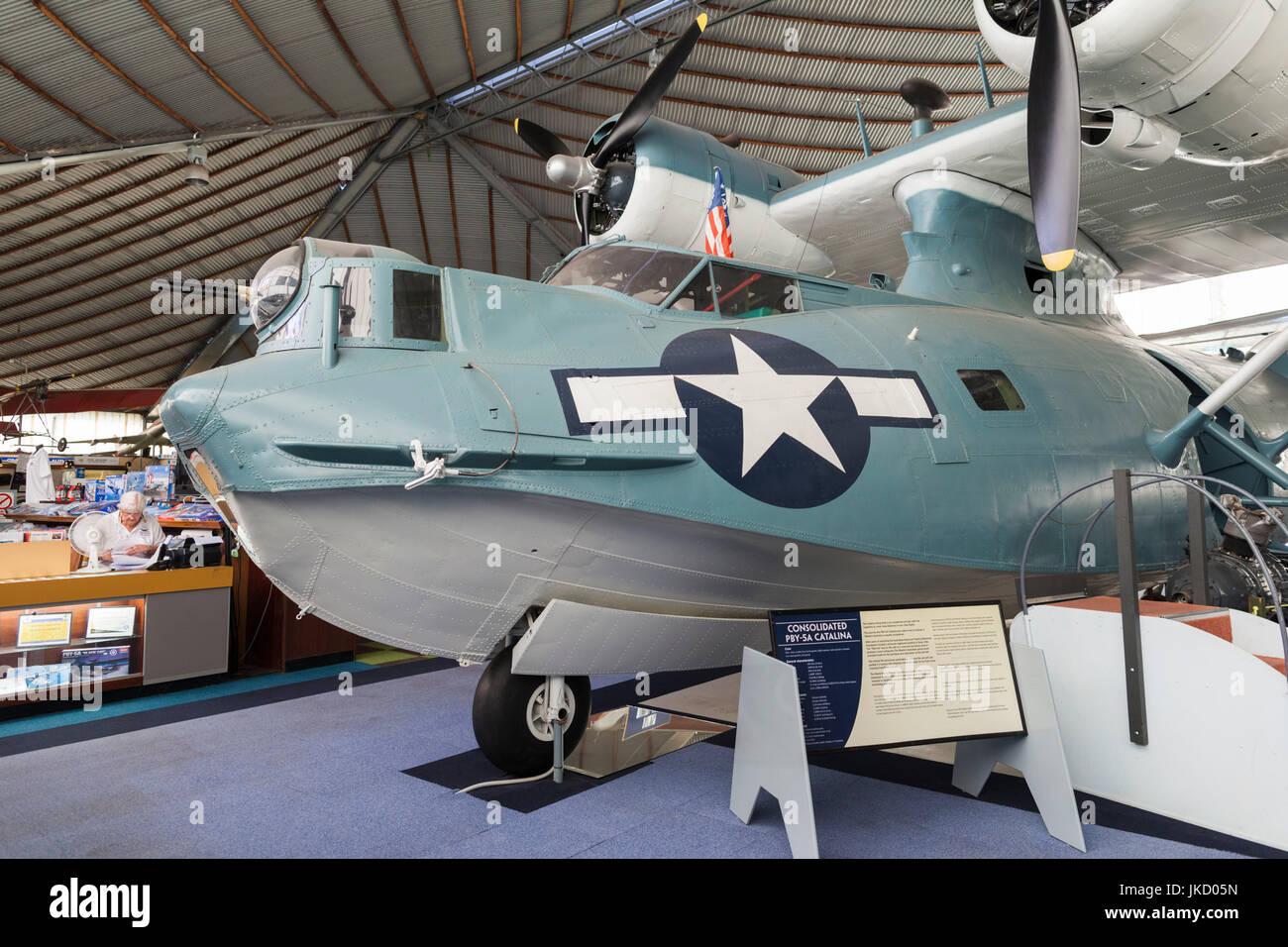 Australia, Western Australia, Bull Creek, RAAF Aviation Heritage Museum, WW2-era PBY Catalina seaplane - Stock Image