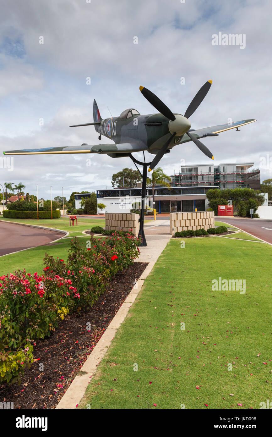 Australia, Western Australia, Bull Creek, RAAF Aviation Heritage Museum, WW2-era Spitfire Fighter aircraft - Stock Image