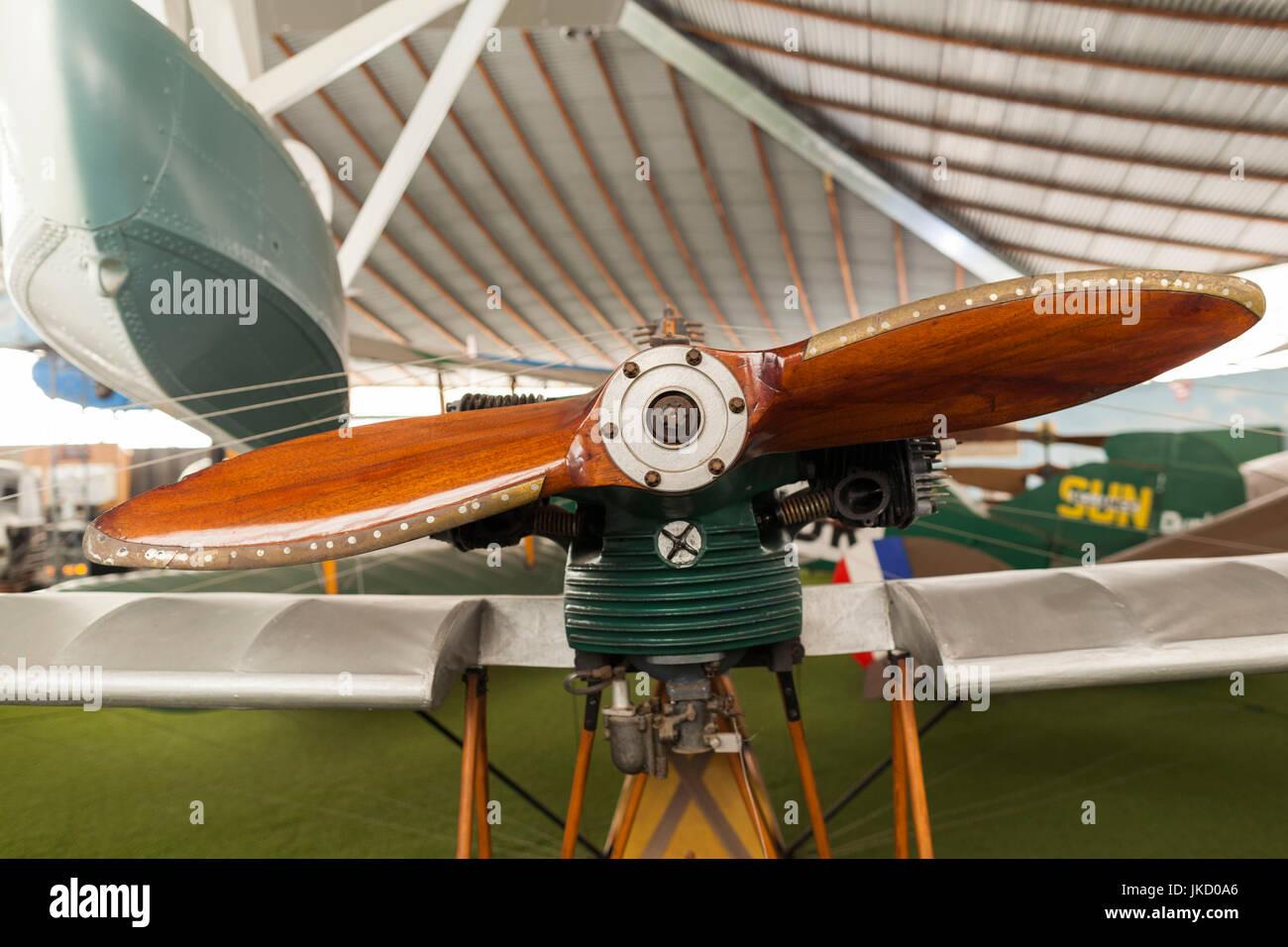 Australia, Western Australia, Bull Creek, RAAF Aviation Heritage Museum, wooden propeller - Stock Image