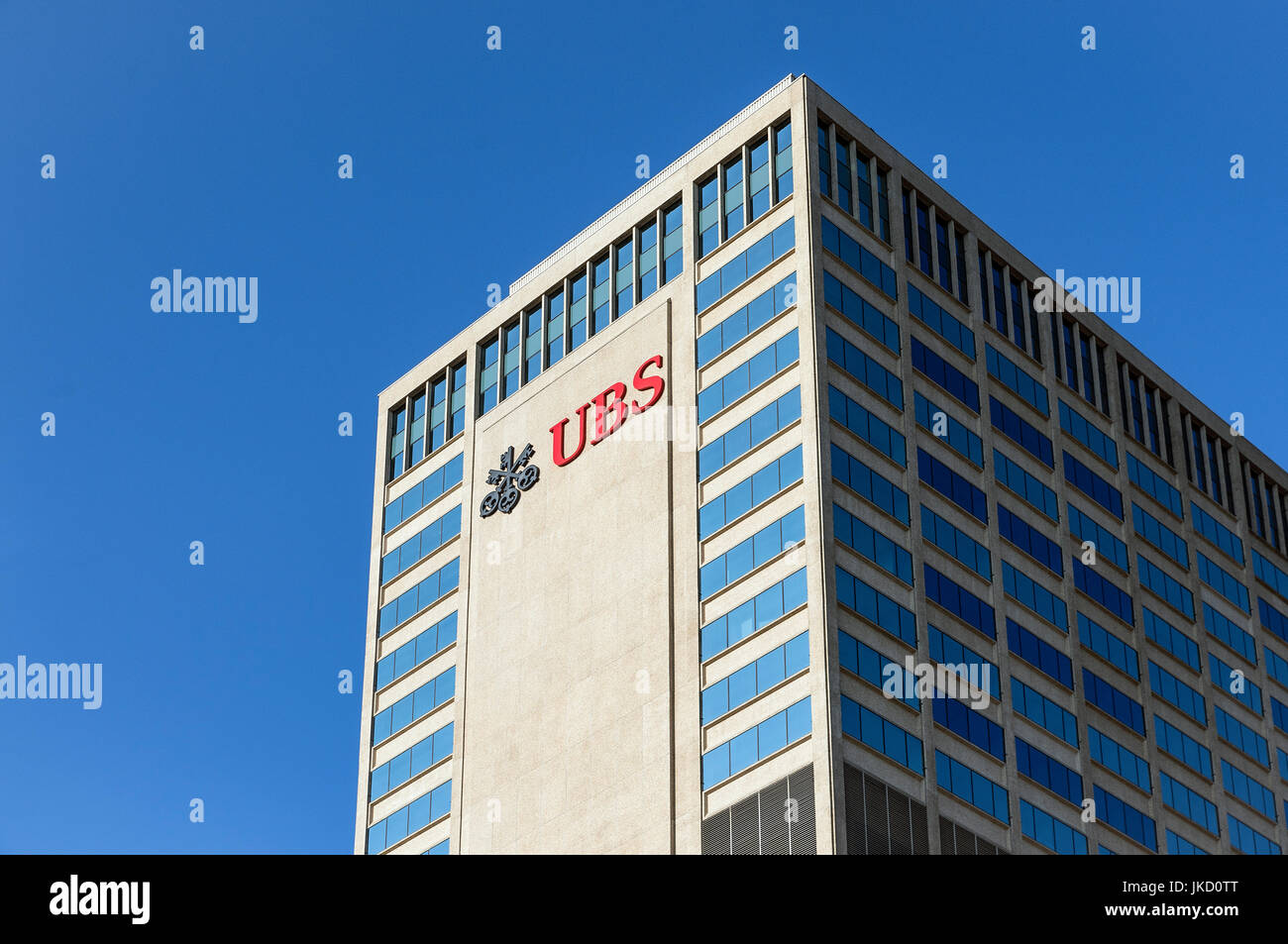 UBS financial services company office building, Nashville, Tennessee, USA. - Stock Image