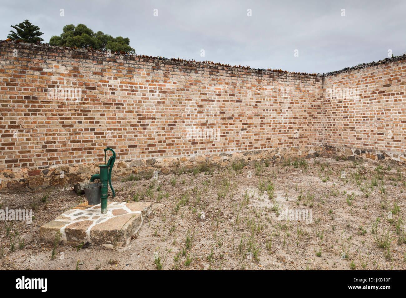 Australia, Western Australia, The Southwest, Albany, Historic Albany Gaol, jailhouse, excercise yard - Stock Image