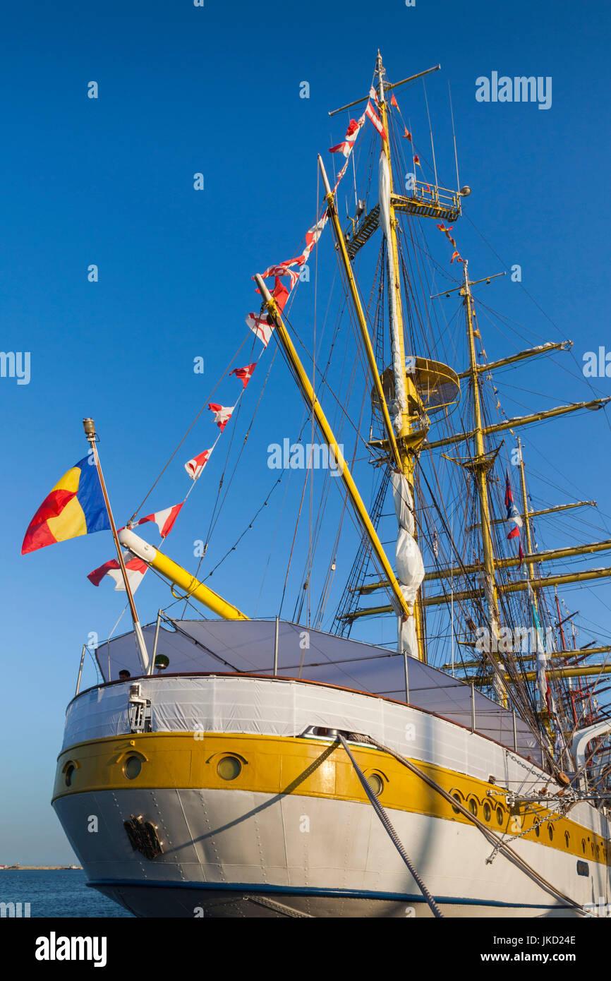 Romania, Black Sea Coast, Constanta, Constanta Port, Black Sea Tall Ships Regatta, Romanian Tall Ship Mircea - Stock Image