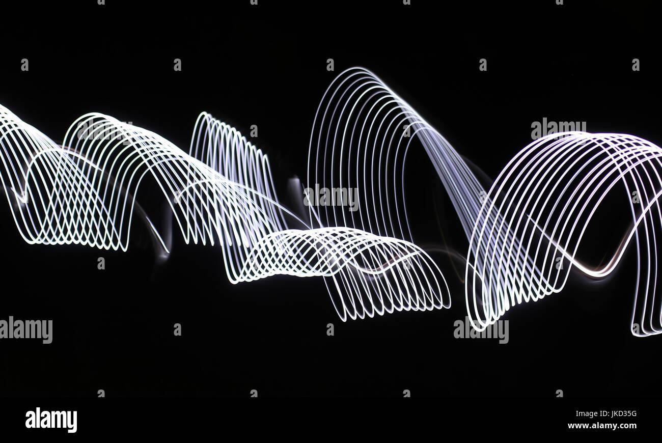 Modern Light Art motion blur photography - Stock Image