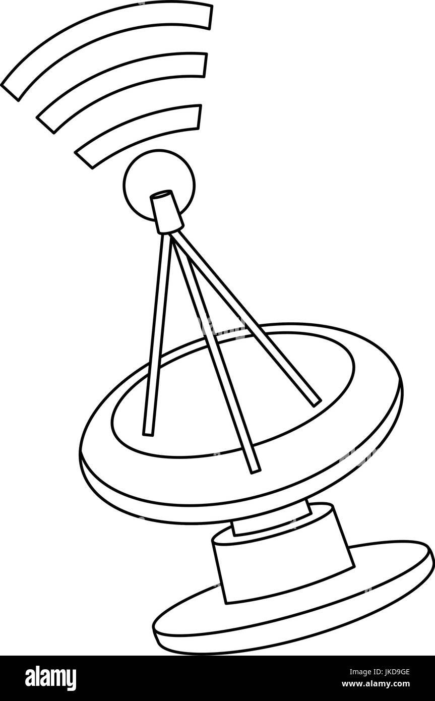 satellite dish black and white stock photos images alamy Dish Network Satellite Antenna radar satellite dish munication antenna signal stock image