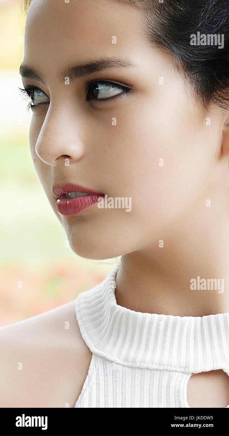 Youthful Female Teenager And Worry - Stock Image