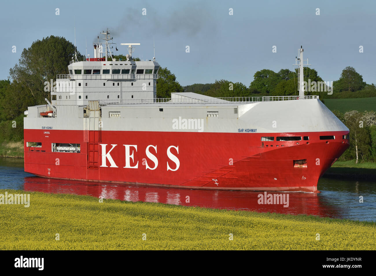 Car Carrier Isar Highway Stock Photo