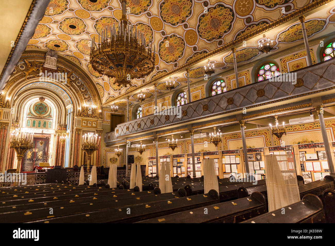 Romania, Bucharest, Grand Synagogue, interior - Stock Image