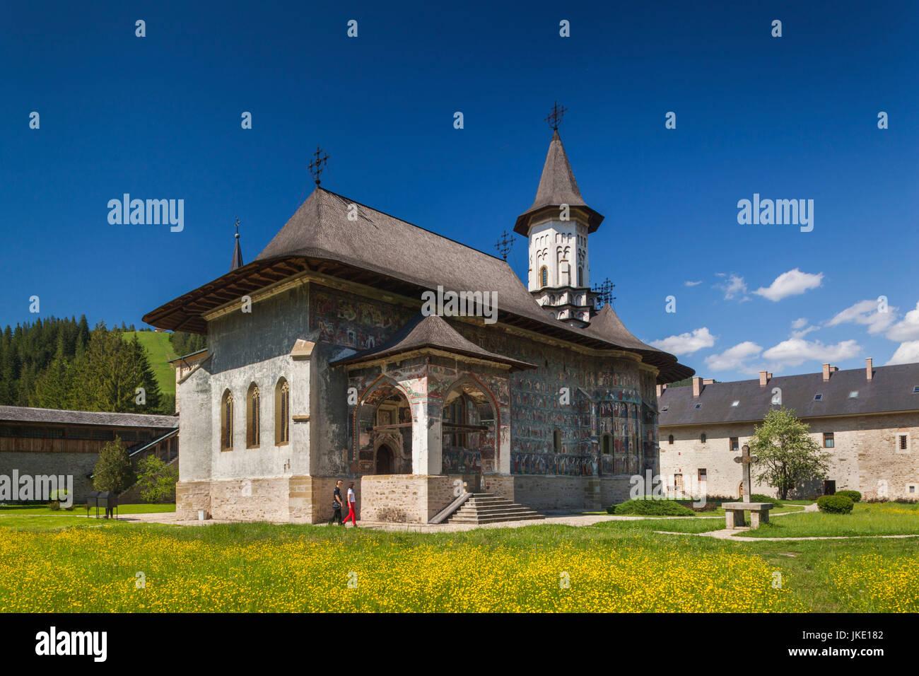 Romania, Bucovina Region, Bucovina Monasteries, Sucevita, Sucevita Monastery, 16th century, exterior - Stock Image