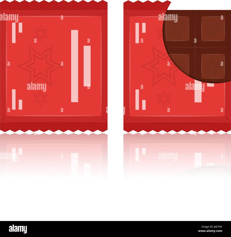 Vector set of flat chocolate bar icons. - Stock Vector