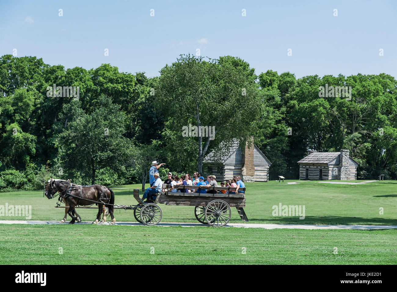 The Hermitage is a historical plantation and museum which was previously the home of President Andrew Jackson, - Stock Image