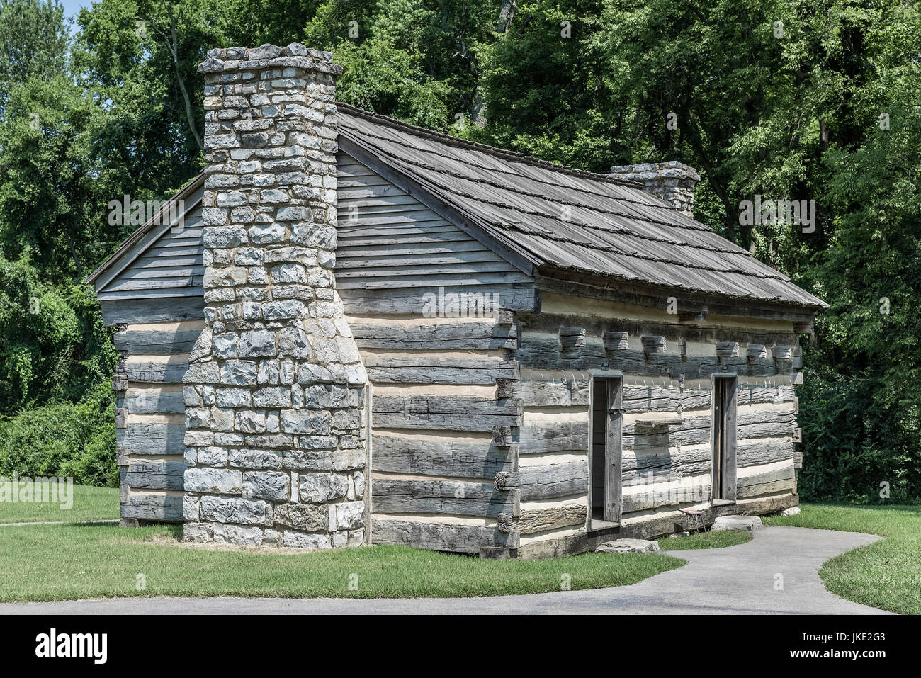 The Hermitage slave quarters cabin, Tennessee, USA. - Stock Image