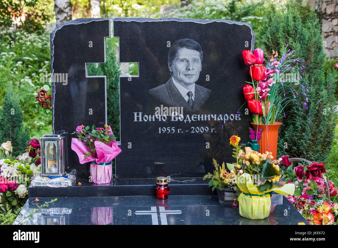 Bulgaria, Central Mountains, Koprivshtitsa, grave of political leader Nontso Vodenicharov - Stock Image