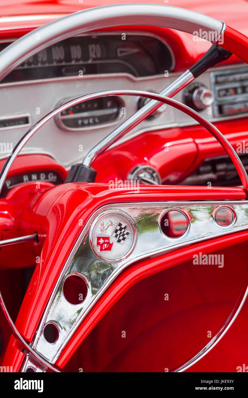 USA, Massachusetts, Cape Ann, Gloucester, Antique Car Show, classic ...