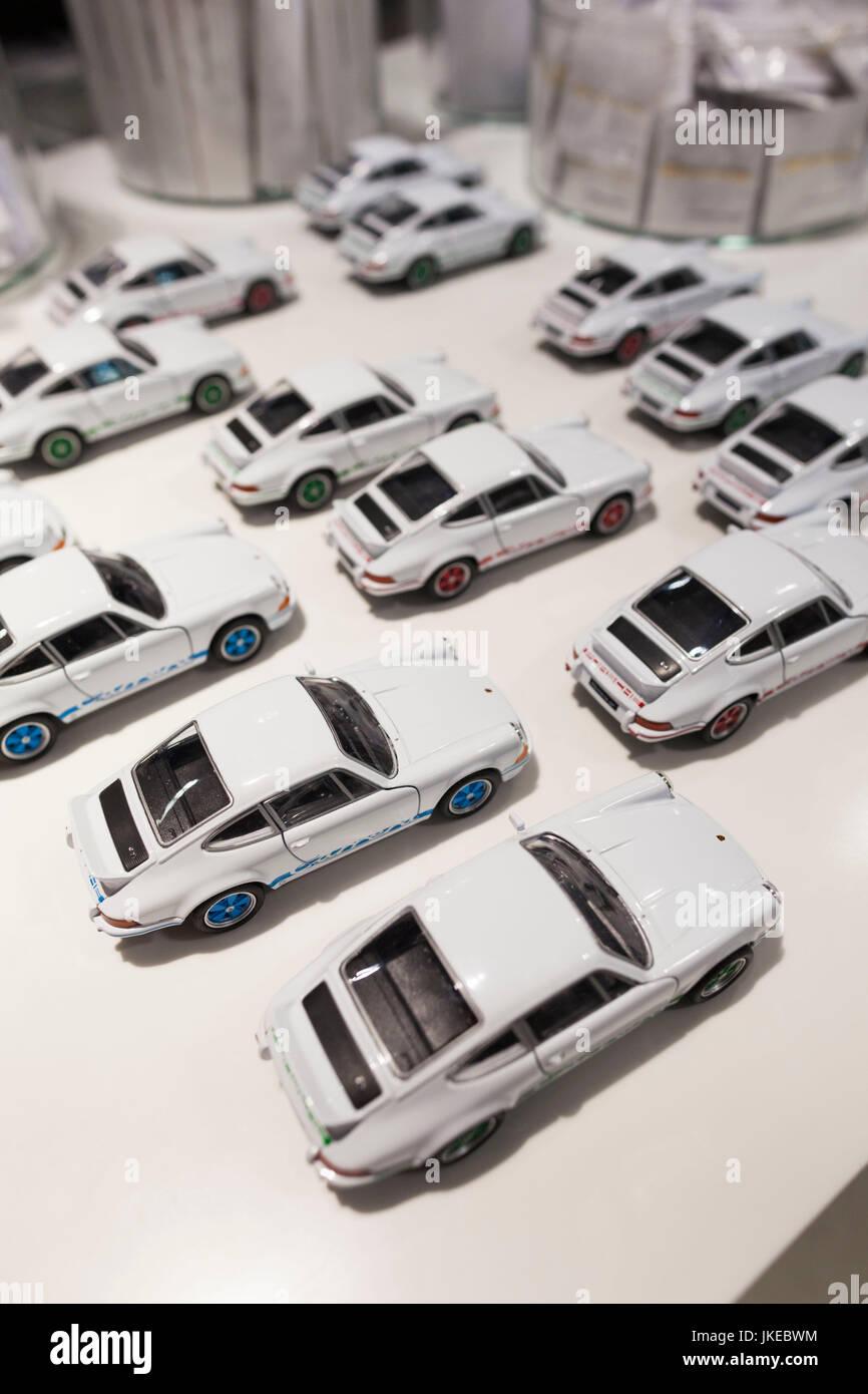 Germany, Baden-Wuerttemberg, Stuttgart - Zuffenhausen, Porsche Car Museum, Porsche 911 models - Stock Image