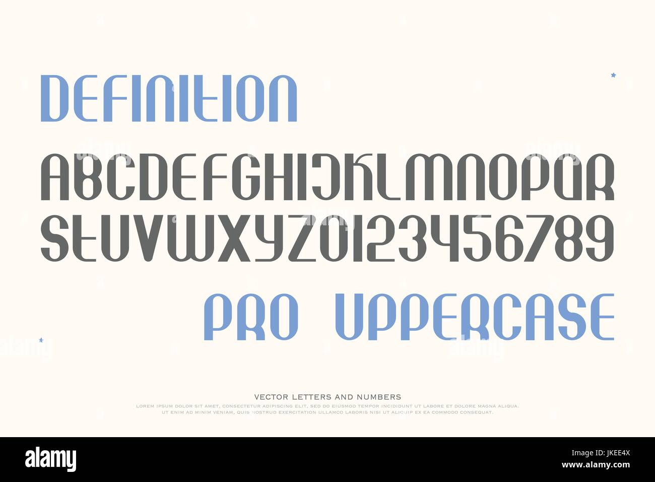 set of stylish alphabet letters and numbers  vector, medium font