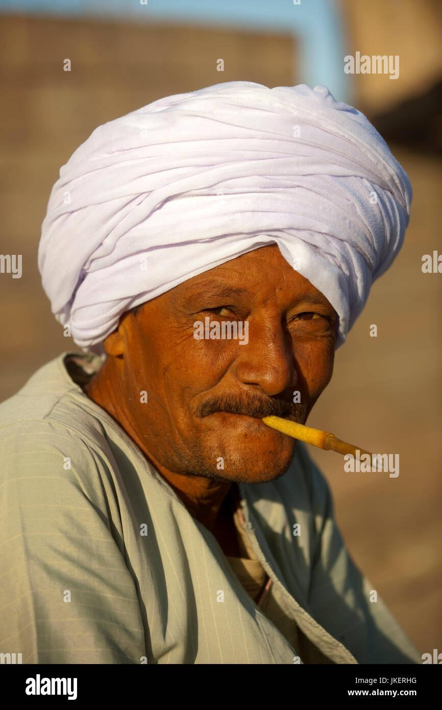Aegypten, Assuan, Mann - Stock Image