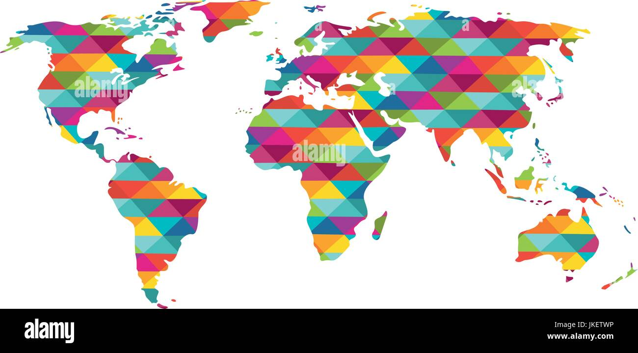 Colorful world map stock vector art illustration vector image colorful world map gumiabroncs Gallery
