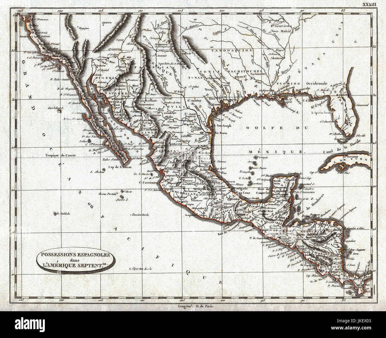1804 Pinkerton Map of Colonial Spanish America including Mexico