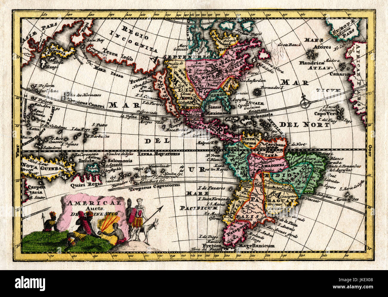 1730 Wiegel Map Of The Americas Showing California As An