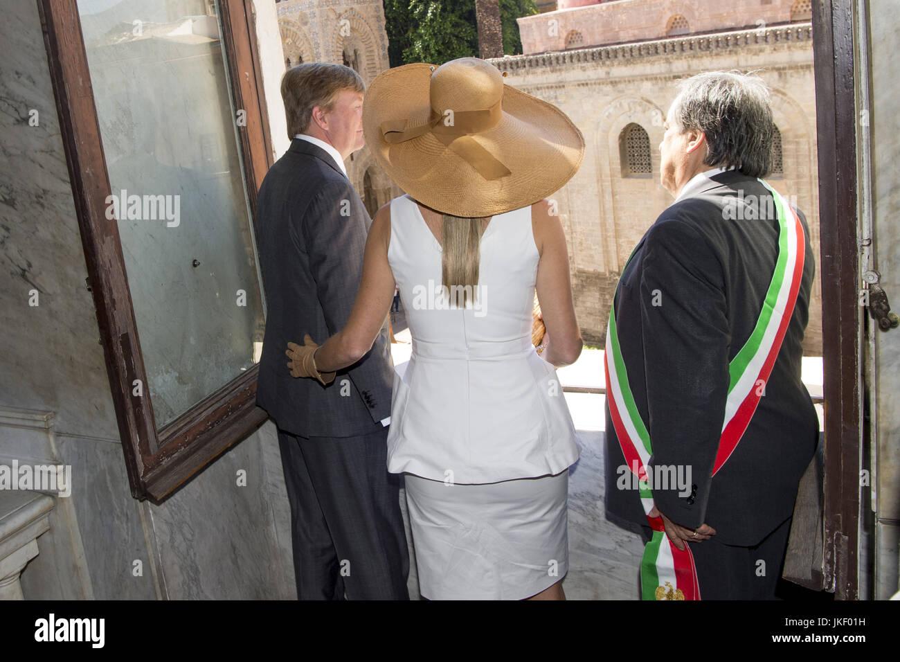 Staatsbezoek van Koning en Koningin aan de Republiek Italie - dag 2 - Palermo /// State visit of King and Queen - Stock Image