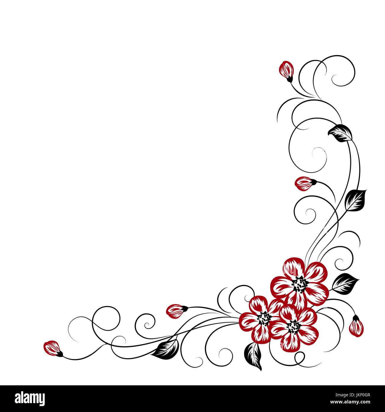 Simple Floral Background Stock Vector Image Art Alamy
