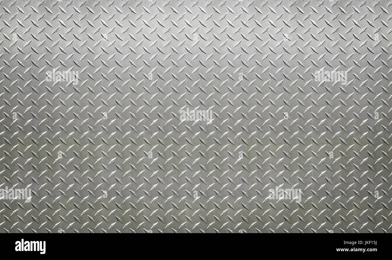 diamond steel sheet, plate, aluminum, wall, - Stock Image