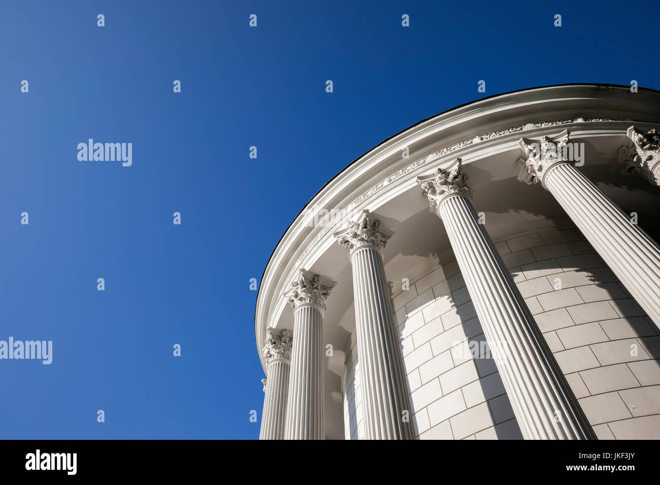 Poland, Warsaw, Saxon Garden, classical style water tower - Stock Image