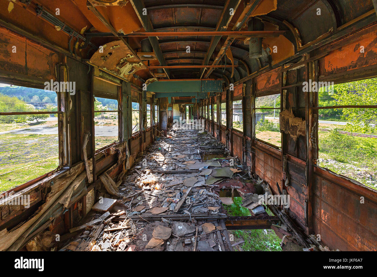 Abandoned Old Soviet Train Wagon In Georgia, Caucasus