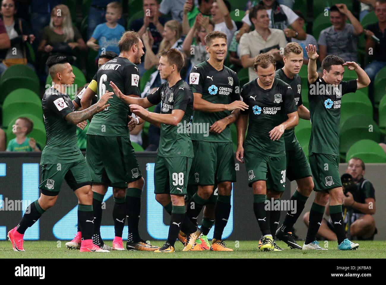 Krasnodar Russia 22nd July 2017 Fc Krasnodar S Players Celebrate Stock Photo Alamy