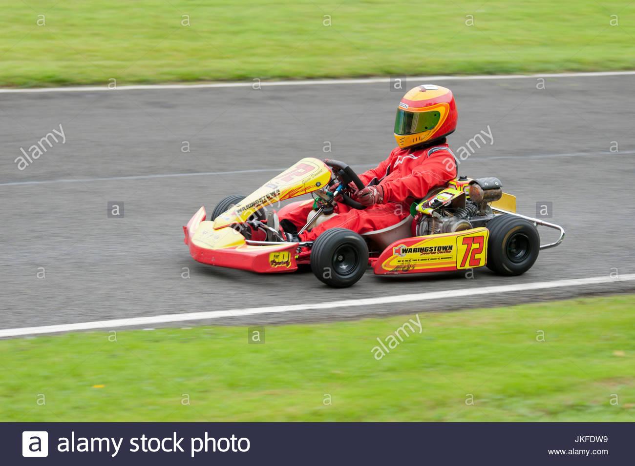 Larkhall, UK  23 July, 2017  Honda Cadet driver Gavin Dewart in