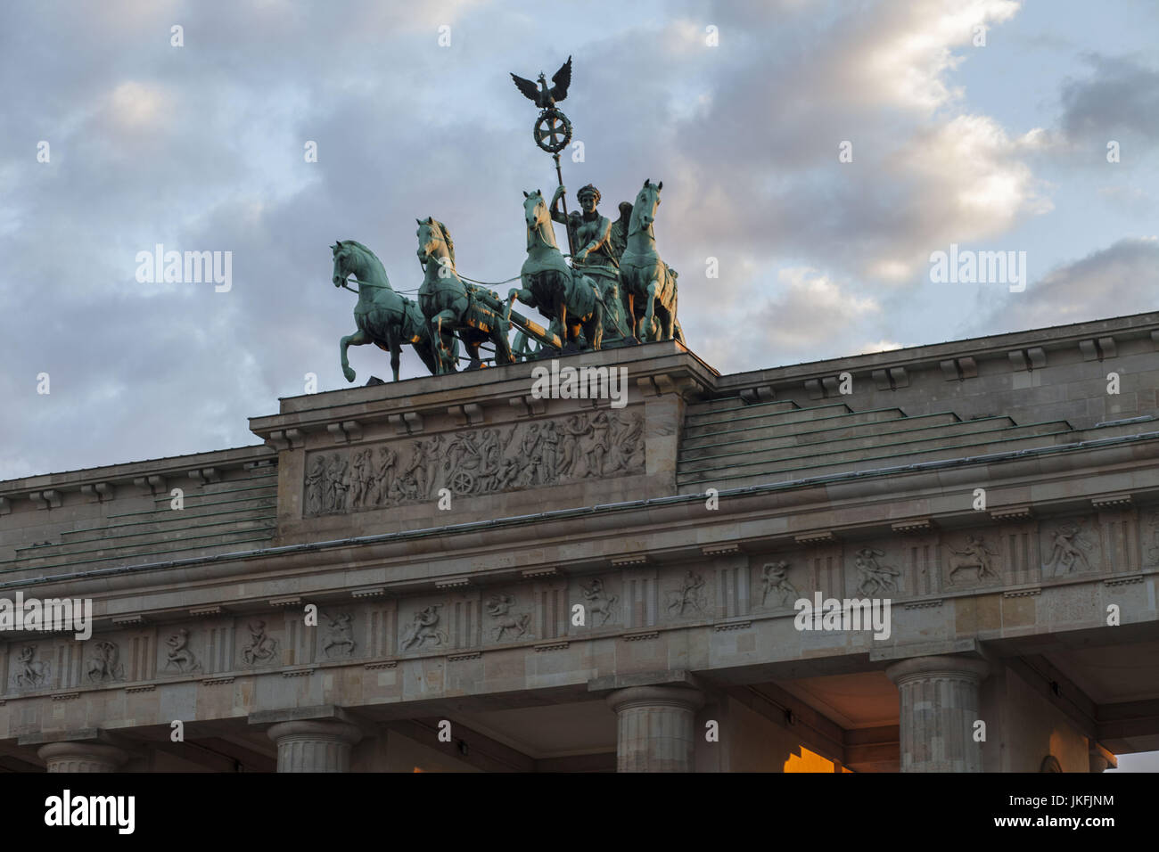 Berlin, Germany. 24th July, 2017. A view of Brandenburg Gate, at Berlin's Parizer Platz, July 23, 2017. Credit: Stock Photo