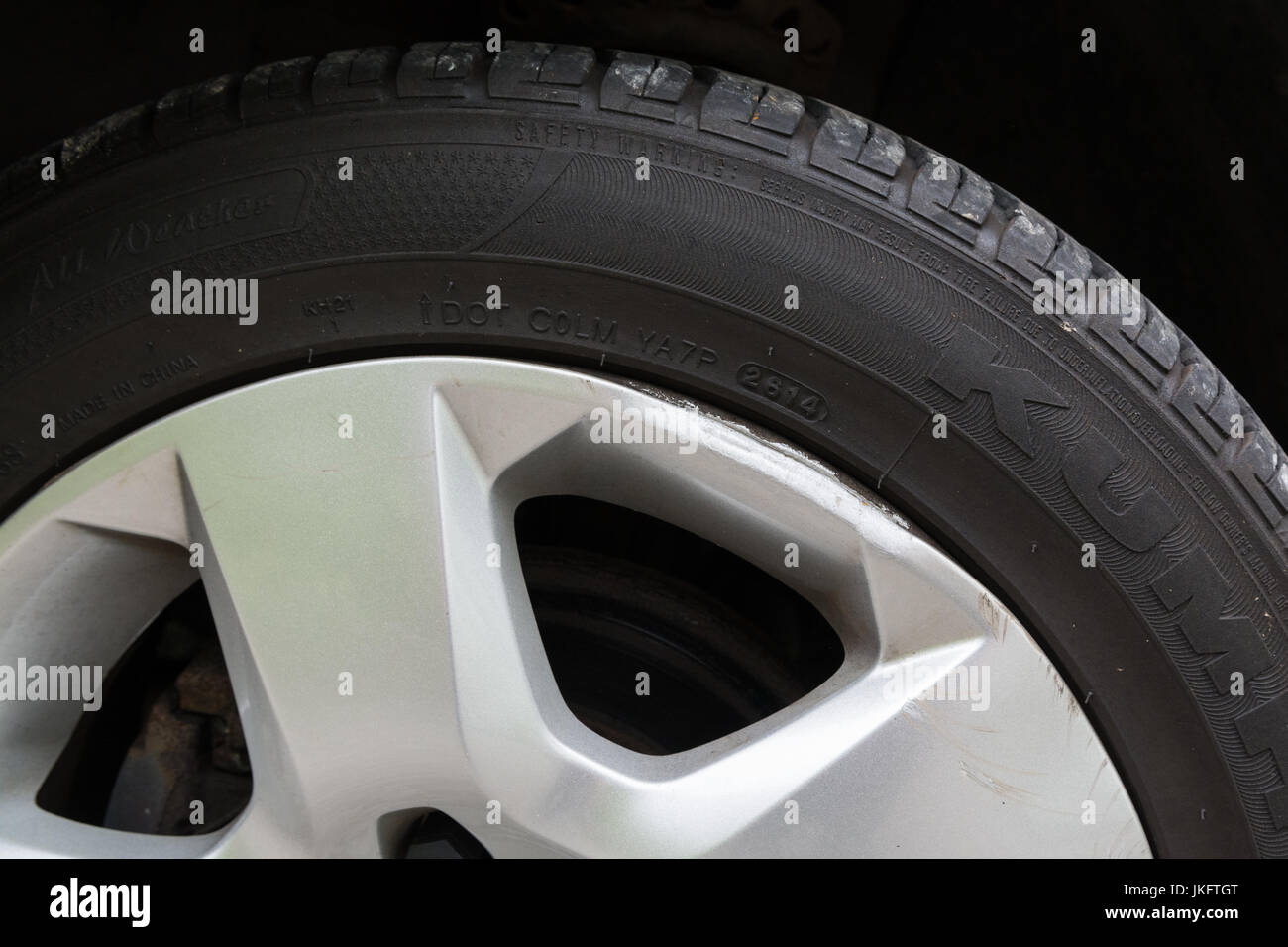 kerbed wheel trims - Stock Image