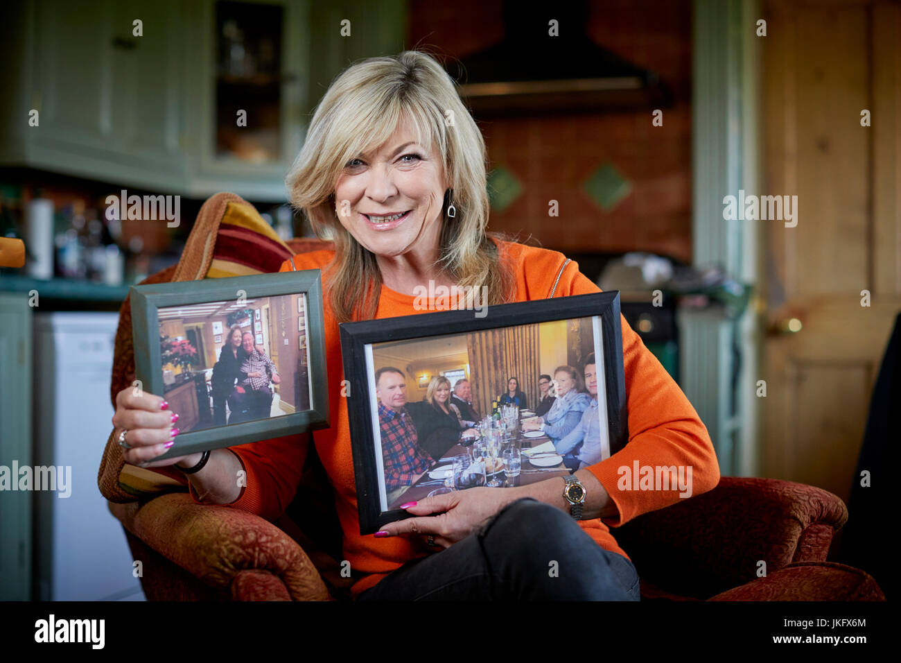 Claire King (born Jayne Claire Seed an English actress. She is best known for playing the role of Kim Tate in the - Stock Image
