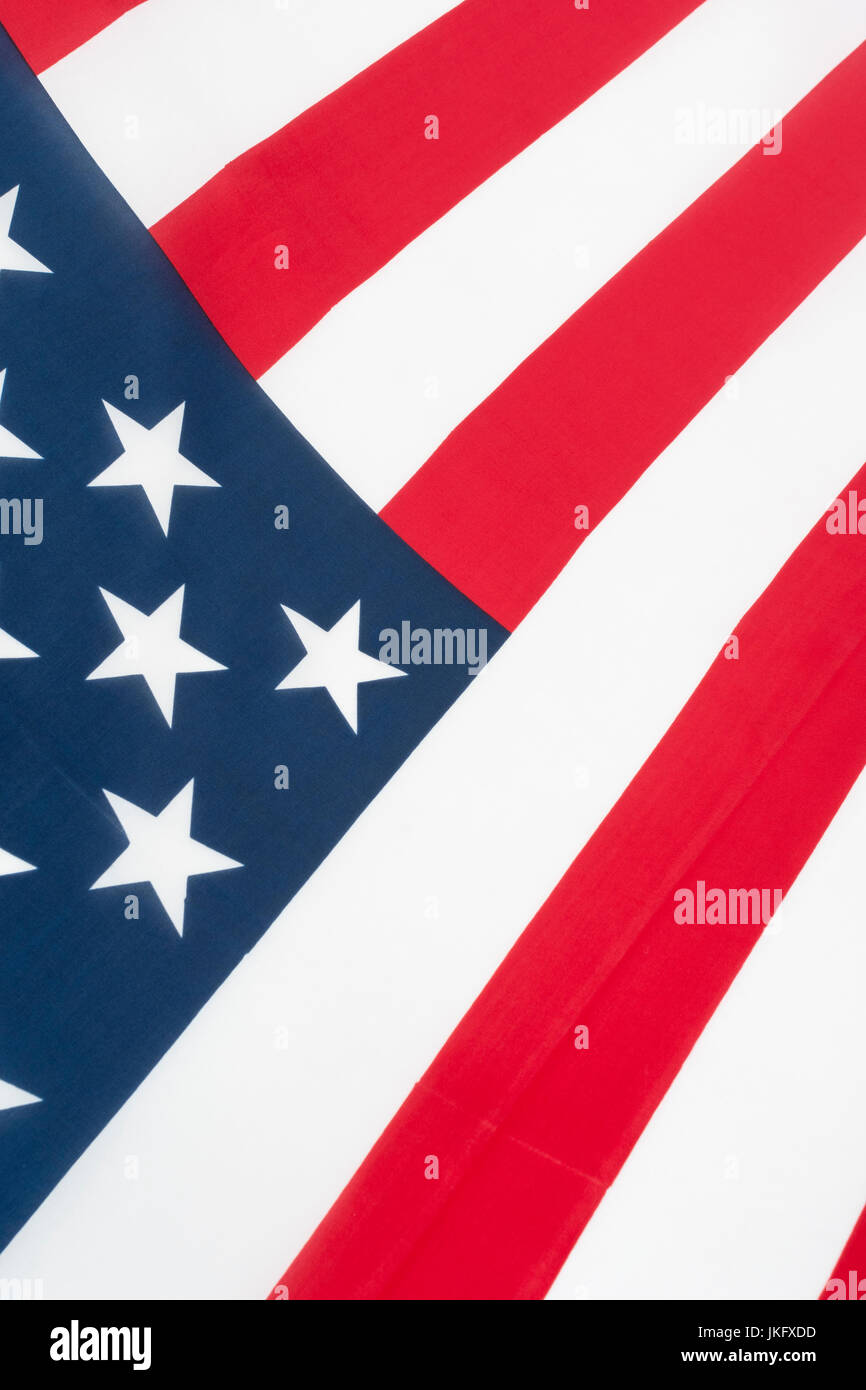 American / USA US Stars and Stripes flag - metaphor US presidential and midterm elections, voter registration and - Stock Image