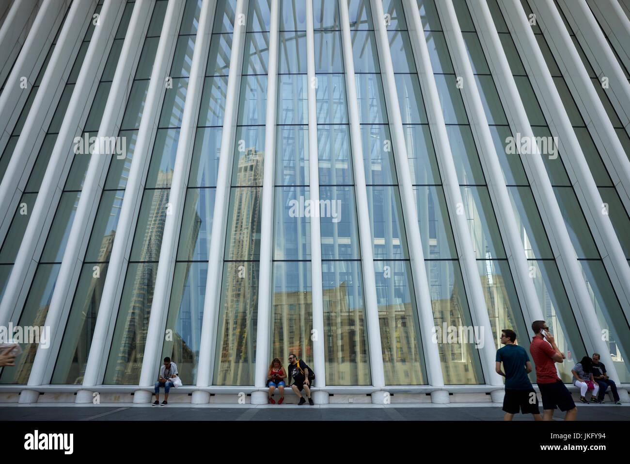 New York City, Manhattan, United States Westfield World Trade Center shopping center  World Trade Center complex - Stock Image