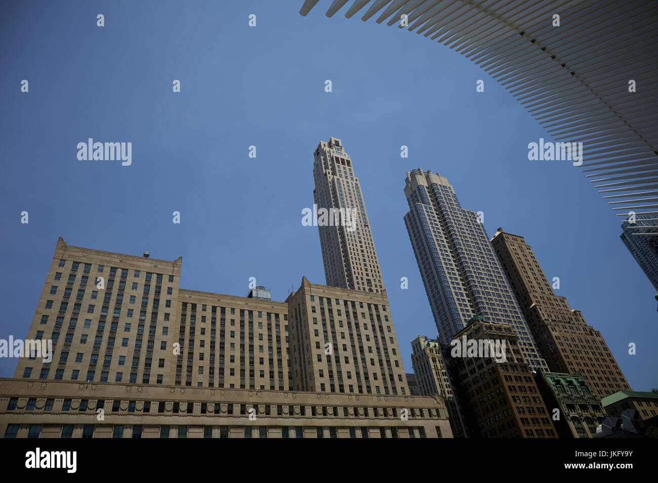 New York City, Manhattan, United States Westfield World Trade Center shopping center  World Trade Center frames - Stock Image
