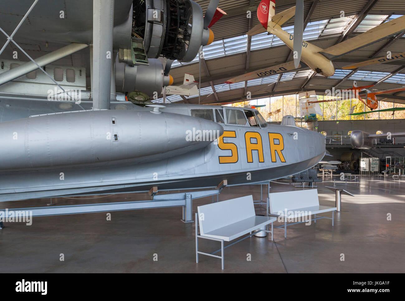 Germany, Bavaria, Munich - Oberschleissheim, Deutsches Museum Aviation Collection, housed at former NATO airfield, - Stock Image