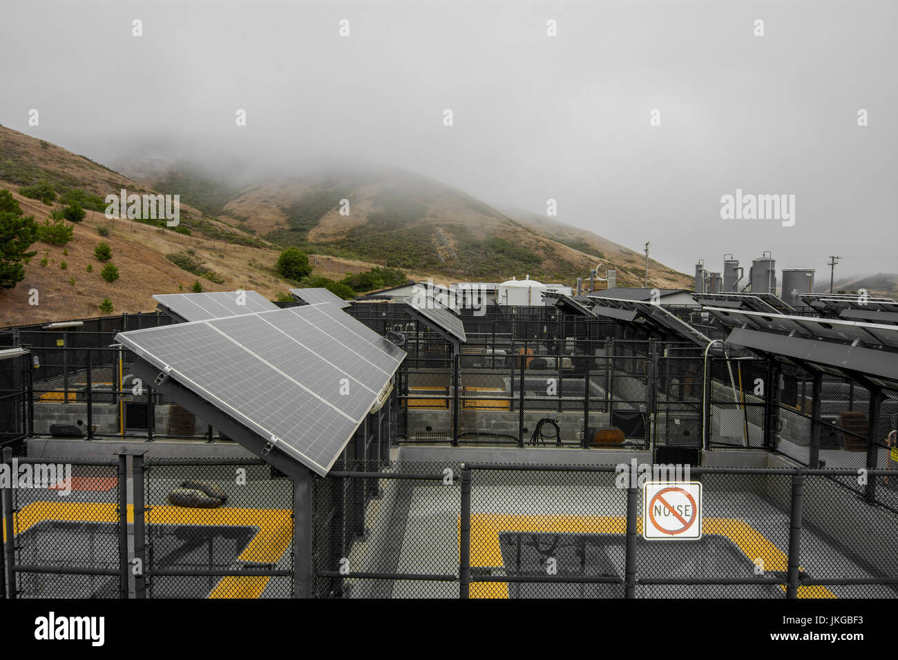Inside the Marine Mammal Center and its solar pannels. The Marine Mammal Center is a nonprofit veterinary research - Stock Image