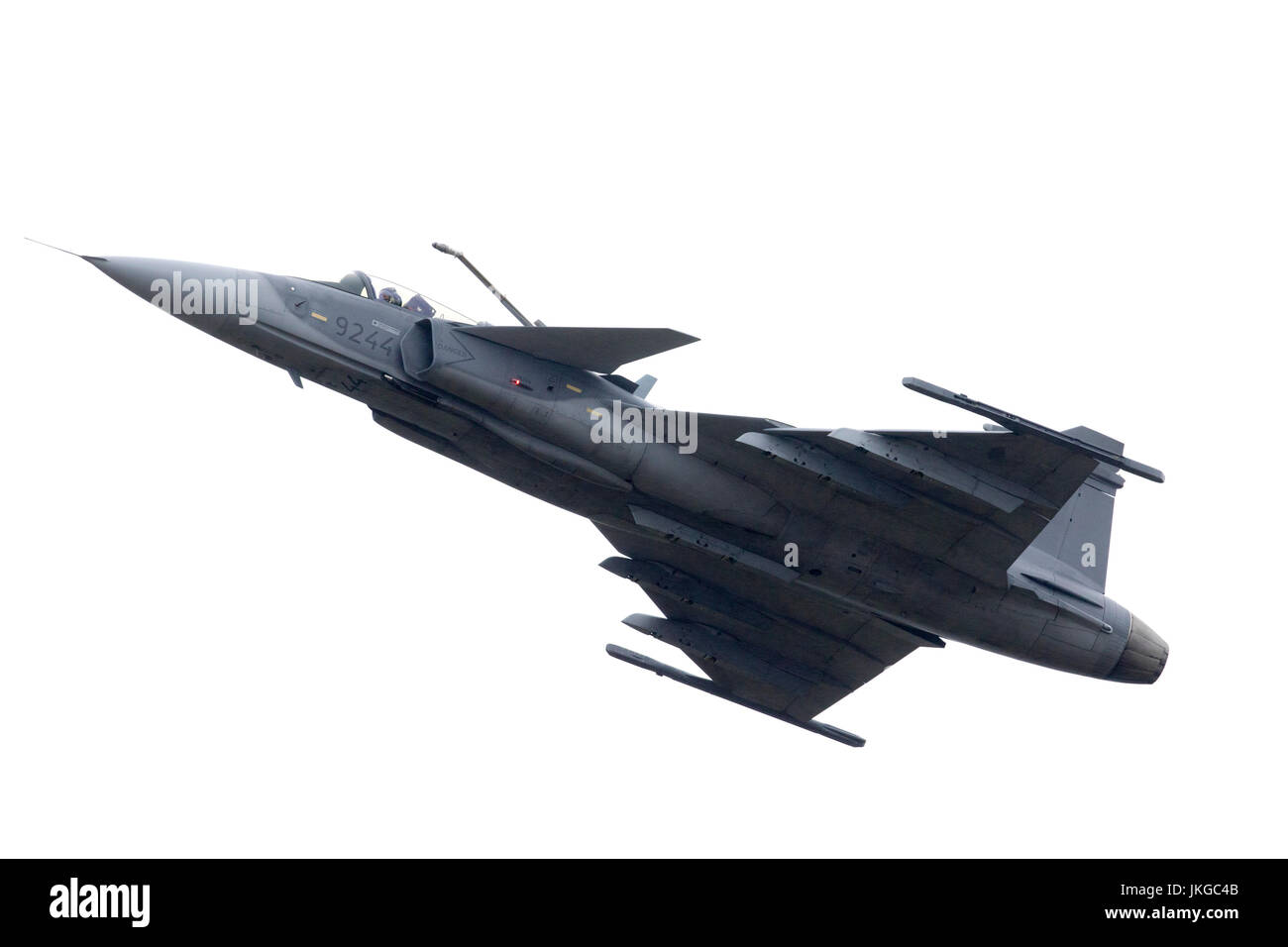 Czech Air Force Saab JAS 39C Gripen 9244  light single engine multirole fighter aircraft by Saab at Royal International - Stock Image