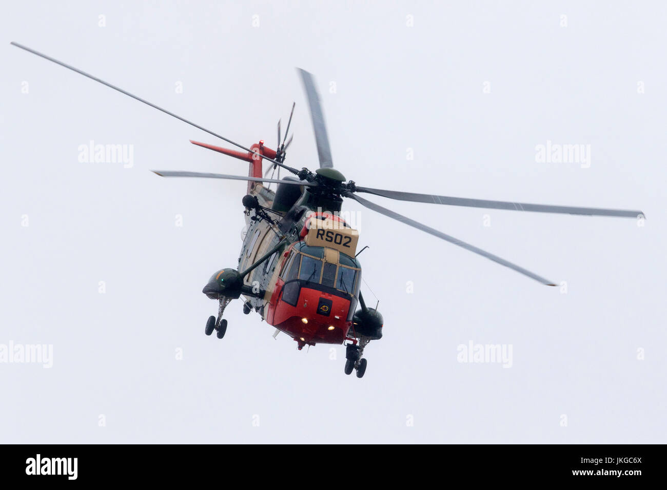 RS02 Belgian Air Force Westland Sea King Medium lift transport and utility helicopter at the Royal International - Stock Image