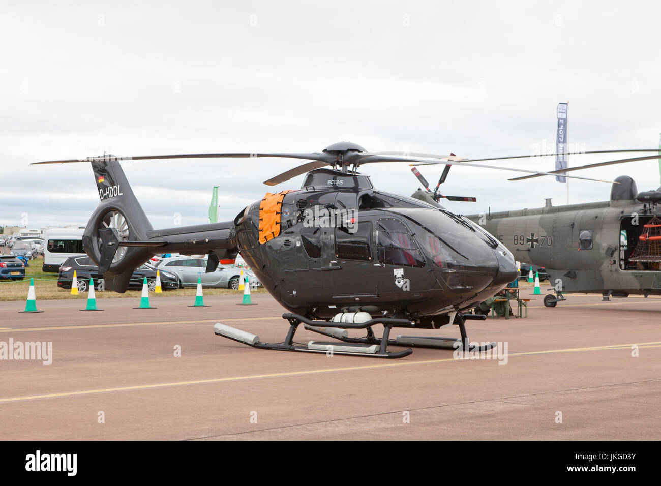 Marineflieger German Navy DL Helicopter Airbus Eurocopter at the Royal International Air Tattoo RIAT 2017 - Stock Image
