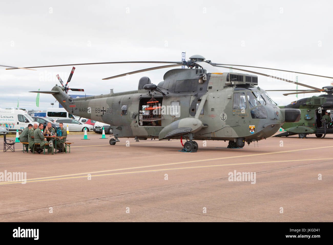 German Navy Westland Sea King Mk41 89 70 helicopter static display at RIAT 2017 - Stock Image