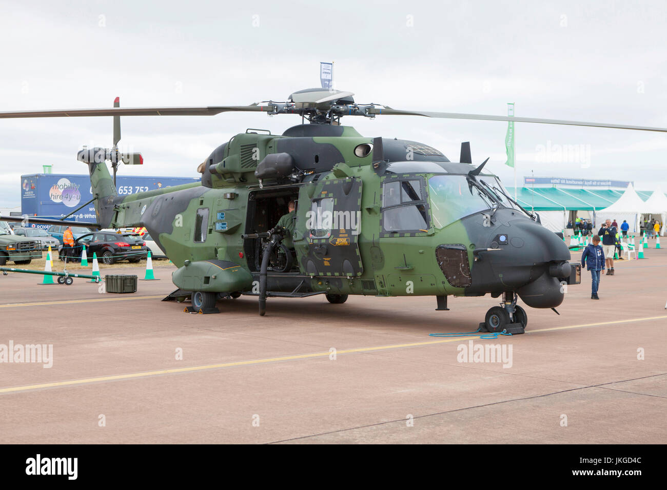 Finnish Army NH Industries NH-90 TTH NH-218 Military Aircraft Military Aircraft at the Royal International Air Tattoo - Stock Image