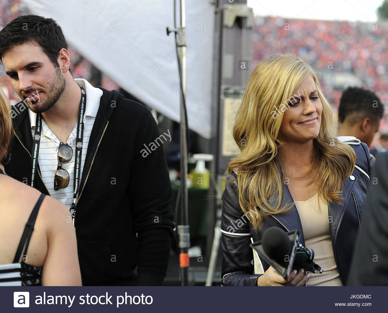 Christian Ponder And Samantha Steele Ponder Espn Field Reporter