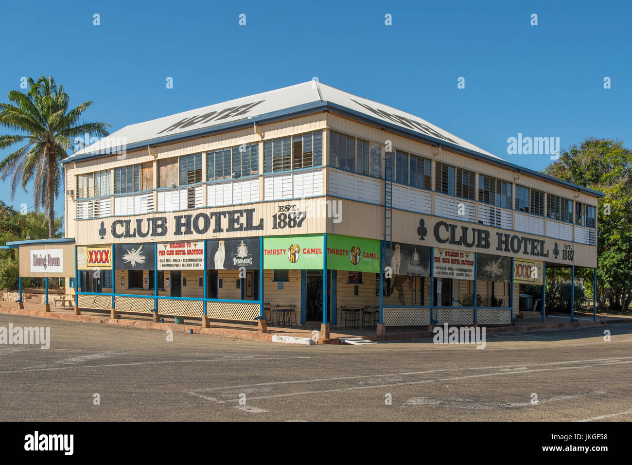 Historic Croydon Club Hotel, Croydon, Queensland, Australia - Stock Image