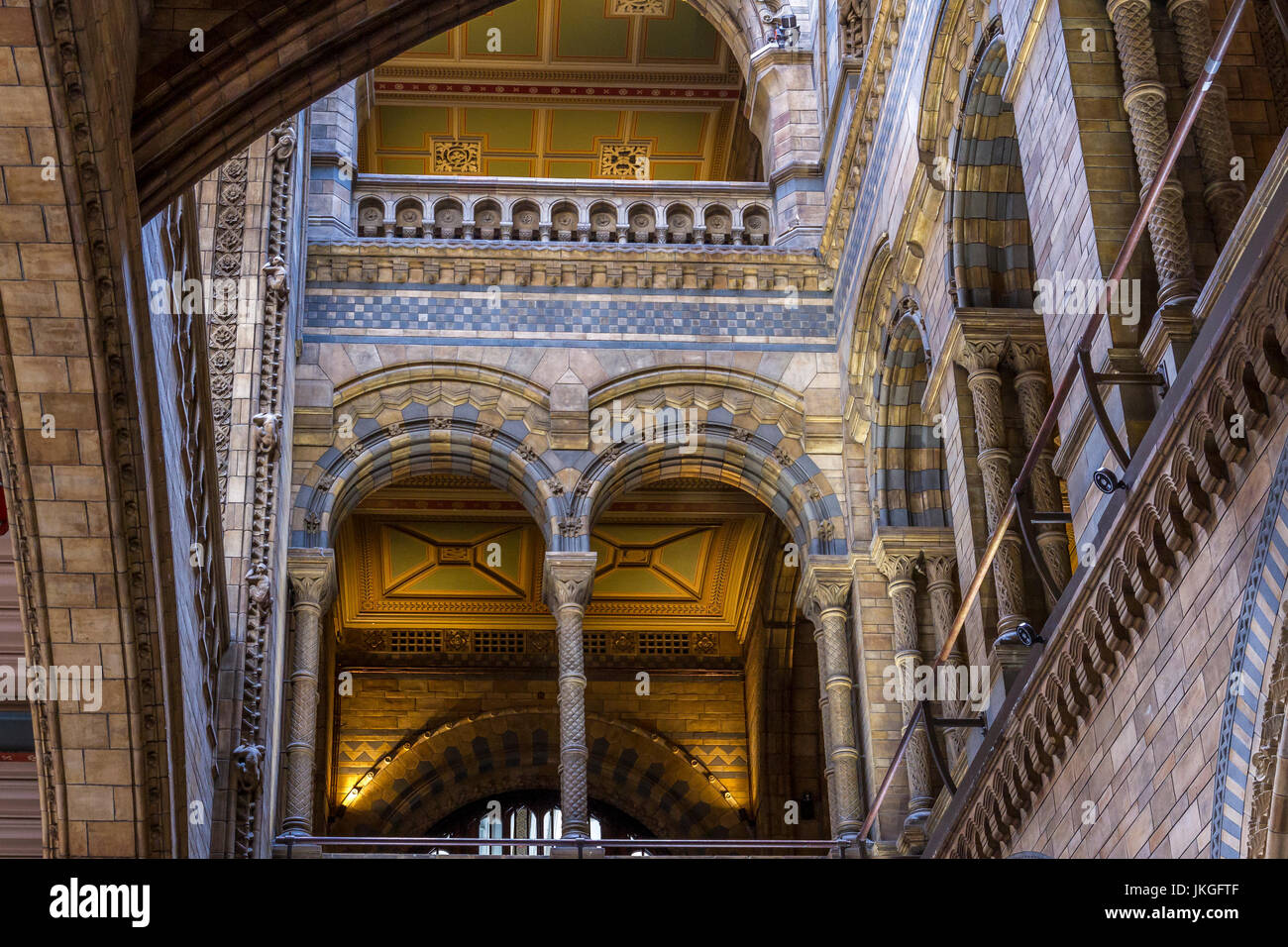 The magnificent Hintze Hall at The Natural History Museum , London - Stock Image