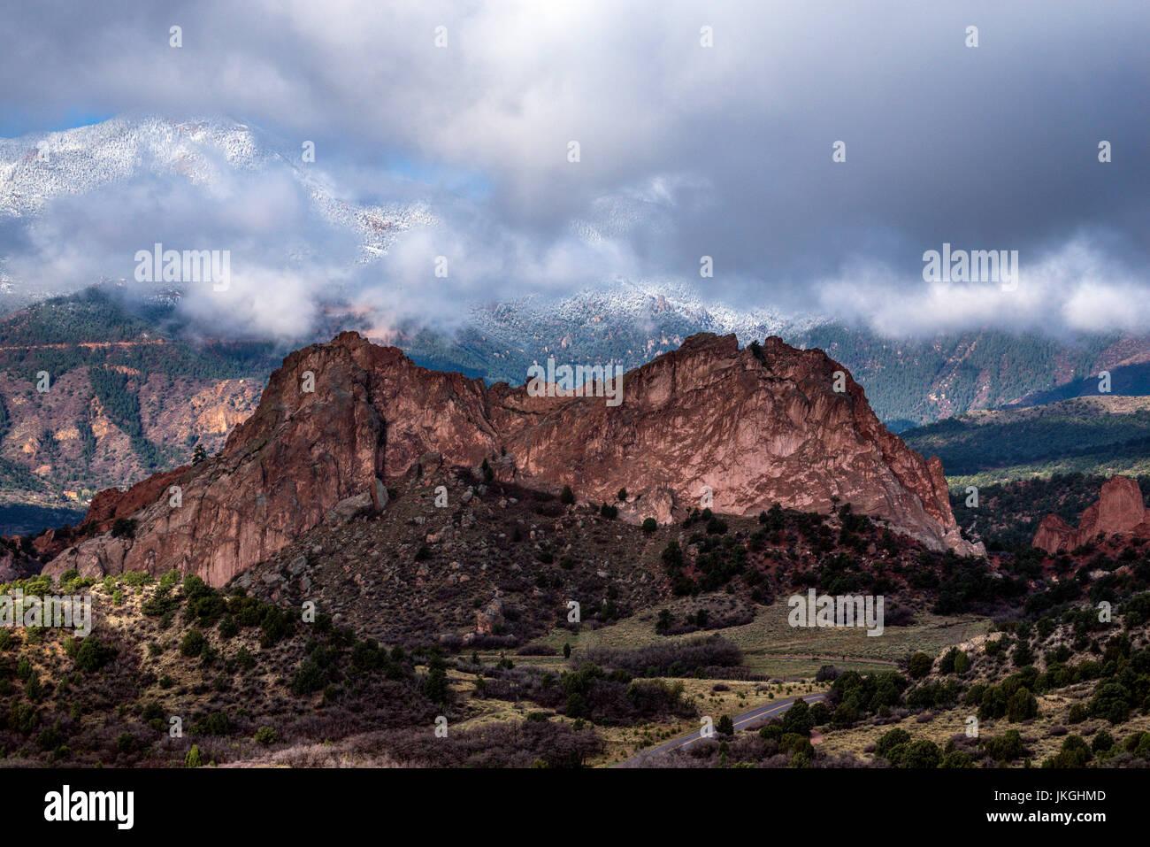 Garden of the Gods, Colorado Springs - Stock Image