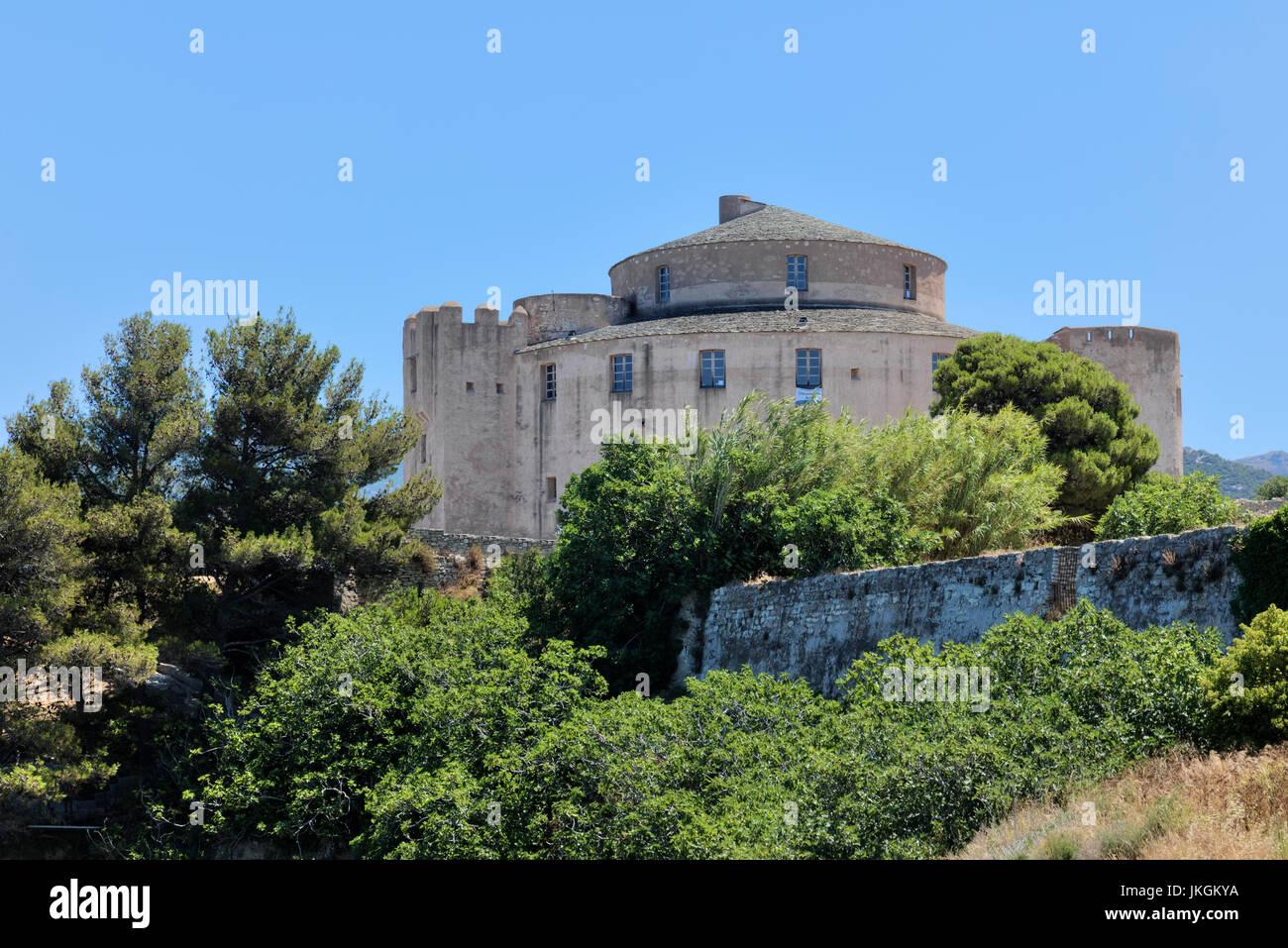 Citadel, Saint-Florent, Haute-Corse, Corsica, France - Stock Image