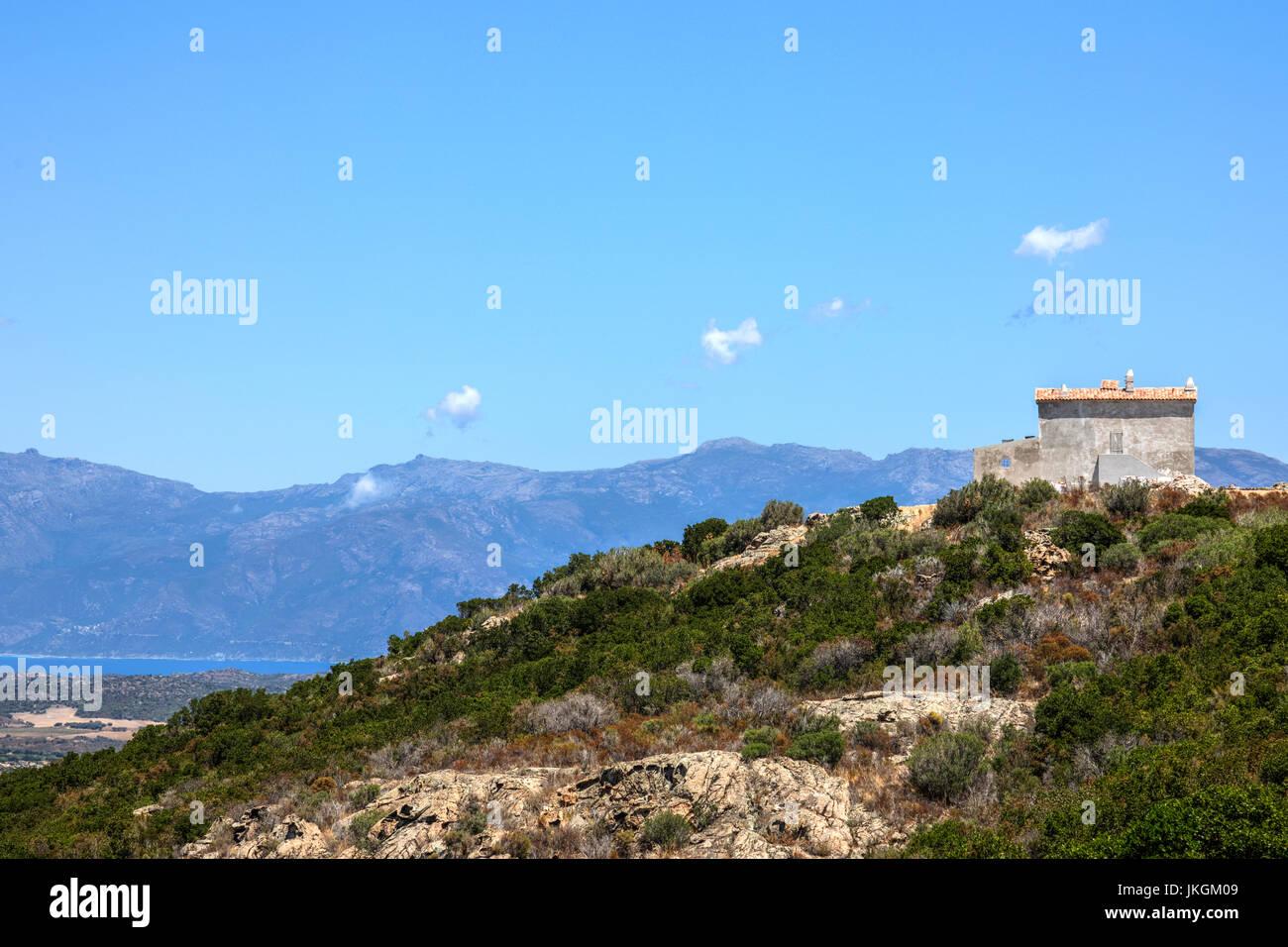 Desert des Agriates, Saint-Florent, Haute-Corse, Corsica, France - Stock Image