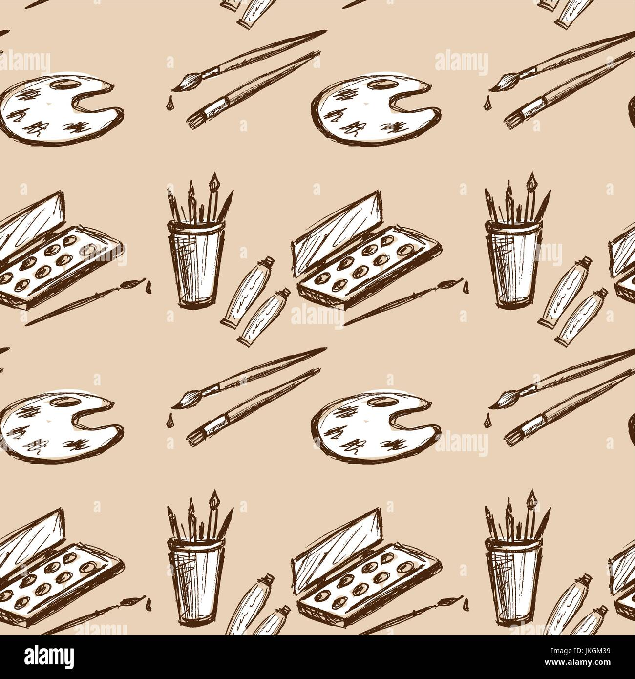Seamless pattern art tools hand drawing seamless pattern can be used for wallpaper